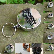 Fashion Heavy Duty Retractable Key Reel Badge ID Card Holder Belt Clip Keyring
