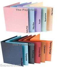 Large Square Pearlescent Card Blanks (pastel & vibrant) & White Pearl Envs 155mm