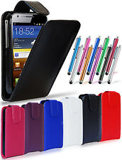 LEATHER FLIP CASE COVER POUCH, LCD FILM & STYLUS FOR SAMSUNG GALAXY Y S5360