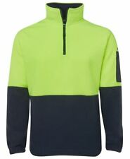 Hi Vis 1/2 ZIP FLEECY WINDCHEATER Workwear  JBswear