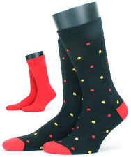 Mens Luxury Cotton Rich Socks from HJ Hall - Black Spot 2 Pair Pack, HJ7132/2