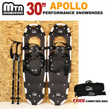 """New MTN 30"""" WHITE All Terrain Snowshoes + Nordic Pole + Free Carrying Bag"""