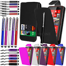 PU LEATHER FLIP CASE COVER, LCD FILM & 3 STYLUS PEN SET FOR NOKIA LUMIA 820