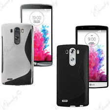 LG G3 Case Slim Gel TPU Rubber Silicone Case Cover  + FREE 2 Screen Protector