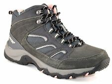 Ladies Womens Leather Waterproof Hiking Walking Trail Ankle Lace Up Boots Shoes