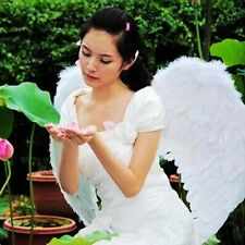 Adults Kids Feather Fairy Angel Wings Halloween Party Fancy Dress Costume 2Color