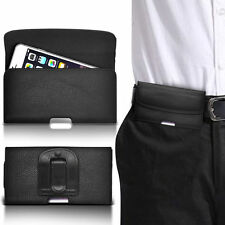 PU Leather Horizontal Belt Clip Pouch Case For BlackBerry Curve 3G 9300