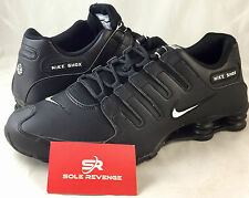 New Men's Nike Shox NZ EU Black White Running Shoes 501524-091 pa total d1