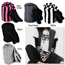 Lady Stretchy Soft Arm Warmer Long Sleeve Fingerless Gloves - Black PK