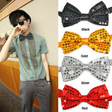 Sequin Bow Tie Dickie Bow Fancy Dress Dance Wear Party Emo 3 Colors PK