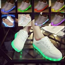 Unisex LED Light Lace Up Luminous Shoes Sportswear Sneaker Lighted Casual Shoes