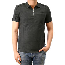 Calvin Klein SLIM FIT PIMA COTTON ZIPPED POLO SHIRT  - Mens
