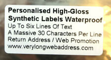 Personalised High-Gloss White Synthetic  Labels Waterproof    50mm x 25mm