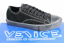 Venice Lace up, Sneaker Trainers, trainers, padded, black Rubber sole NEW