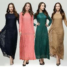 Lady Abaya Koran Muslim Kaftan Hijab Burqa Long Sleeve Islamic Party Maxi Dress