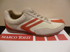 Marco Tozzi Men's Lace-up Shoes Low Shoe Sneaker beige/red 50% reduced NEW