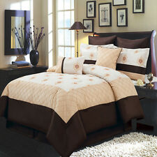 Madison 8 PC Comforter Set Includes Comforter Skirt Shams Pillows 100% Polyester