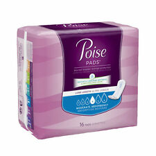 """Poise Moderate Absorbency Long Pads 11"""" x 3"""" 16/Pk"""