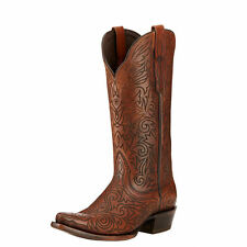 New Women's Ariat 10017376 Sterling Brown Leather Fashion Cowgirl Western Boots