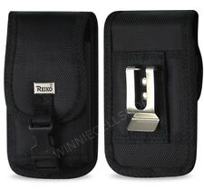 REIKO Canvas Rugged Vertical Metal Belt Clip Case with Buckle for Kyocera Phones