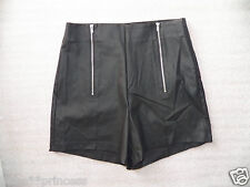 NWT bebe black double zipper waist hot party club mini bottom shorts XS S M L