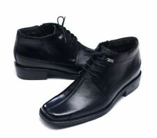 Mens Genuine Leather Gentleman Ankle Zipper Boots Shoes KOREA Made Black Z907 MO