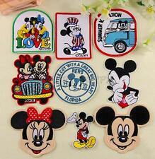 Cartoon Mickey Minnie Mouse Embroidered Appliques Sew/Iron On Patch DIY Clothes