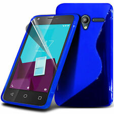 S Line Wave Gel Skin Case Cover & Screen Protector For Vodafone Smart Speed 6