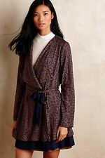 NWT! ANTHROPOLOGIE Belted Logan Trench Cardigan Jacket By Harlyn Sz M SO SOFT!