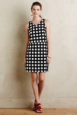 NWT Anthropologie Gridway Shift Dress Black & White Size 8, 10 By Tabitha