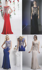 Mother's Of Bride /Groom Stretchy Long Dress Gown Designer Formal Evening 4~18
