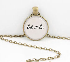 Beatles Let it Be  Pendant Necklace or Key Ring