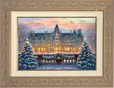 "Thomas Kinkade Christmas at Biltmore 12"" x 18"" Limited Edition S/N Canvas Framed"
