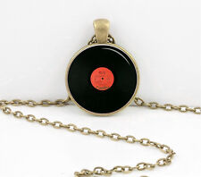 Beatles Vinyl Record Pendant Necklace Key Chain