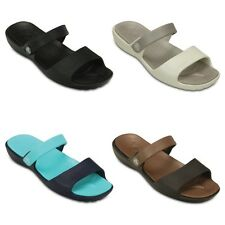 Crocs Womens Crocs Coretta Sandals - Black Blue Beige Brown