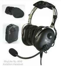 SL-900 SkyLite Aviation Pilot GA Headset w/ Gel Seal, Dual Plug FREE BAG