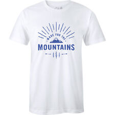 The Level Collective Made For Mountains Mens T-shirt - White All Sizes
