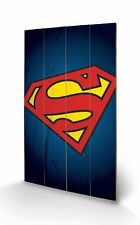 Superman Symbol DC Comics Wooden Wall Art Officially Licensed - Ready To Hang