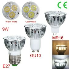Cool 1/10pcs E27 GU10 MR16 Dimmable 9W LED Lamp Spot Light Bulb Cool/ Warm White