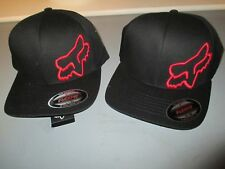 Fox Racing Flex 45 Flex fit hat cap Black Red 58379-017 in stock