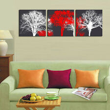 White Red Trees Landscape Canvas Print Painting Modern Canvas Wall Art Decor