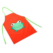 Cute Kids Child Waterproof Apron Cartoon Frog Printed Painting Cooking Apron