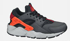 2014 NIKE AIR HUARACHES RUN(GS) WMN/BYS/GRLS TRAINER GREY/HYPER CRIMSON/BLK/RED