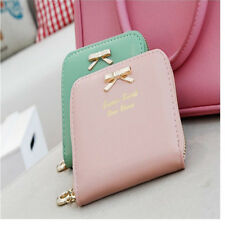 2016 Stylish Womens Mini Wallet Card Holder Small Zip Coin Purse Clutch Handbag