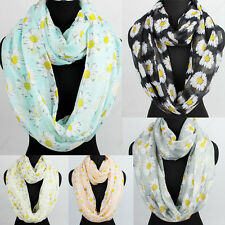 Womens Fashion Scarves Cute Daisy Print Long Scarf Wrap Shawl/Infinity Scarf New
