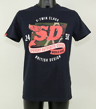SuperDry T-Shirt - MS1JA053 JVK - WORLD WIDE CAMO-ENTRY - RINSE NAVY +NEW