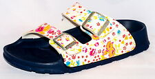Birki Sandals by Birkenstock for Girls Strap  Haiti Magic Flower White Narrow