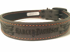 Harley-Davidson® Embossed Leather Collar- Genuine*** ALL Sizes Available!
