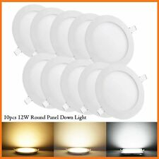 10 Pack Round 12W SMD LED Recessed Ceiling Panel Down Light Bulb Lamp W/ Driver