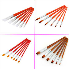 Hot 6Pcs/Set Artist Nylon Hair Pen Acrylic Oil Paint Brush Set Drawing Painting